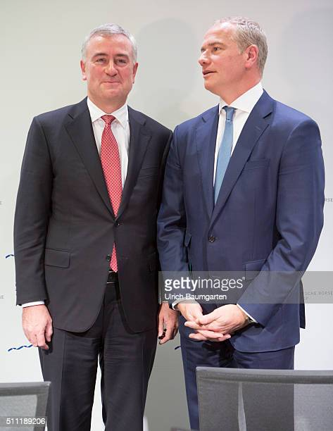 Annual Press Conference Deutsche Börse Group Carsten Kengeter Chief Executive Officer of Deutsche Börse Group and Gregor Pottmeyer Chief Financel...