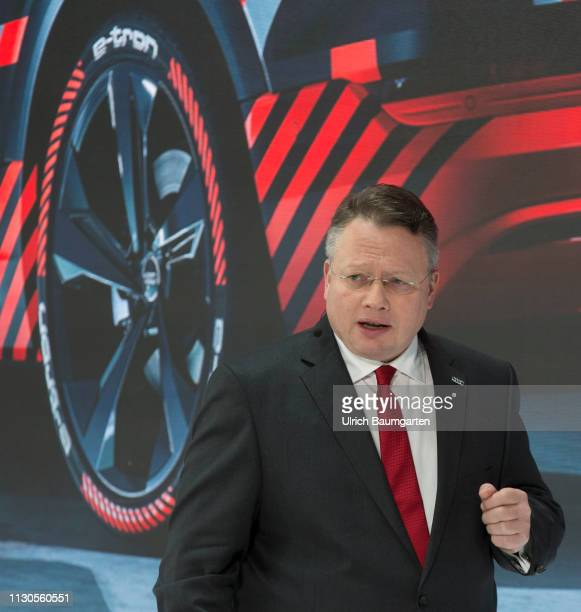 Annual Press Conference of Audi AG in Ingolstadt Alexander Seitz Chief Executive Officer of Audi AG during the press conference