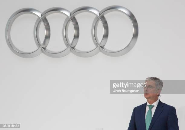 Annual Press Conference of AUDI AG in Ingolstadt Rupert Stadler CEO of Audi AG during his report