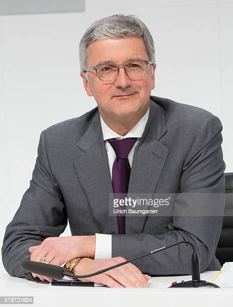 Annual Press Conference of AUDI AG in Ingolstadt Rupert Stadler Chief Executive Officer of AUDI AG during the press conference