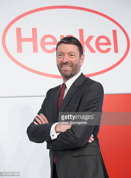Annual Press Conference of Henkel AG & Co. KGaA. Kasper Rorsted, CEO, during the press conference.