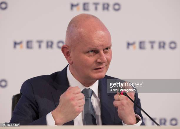 Annual Press Conference of Metro AG Olaf Koch Chairman of the Management Board of Metro AG during the press conference