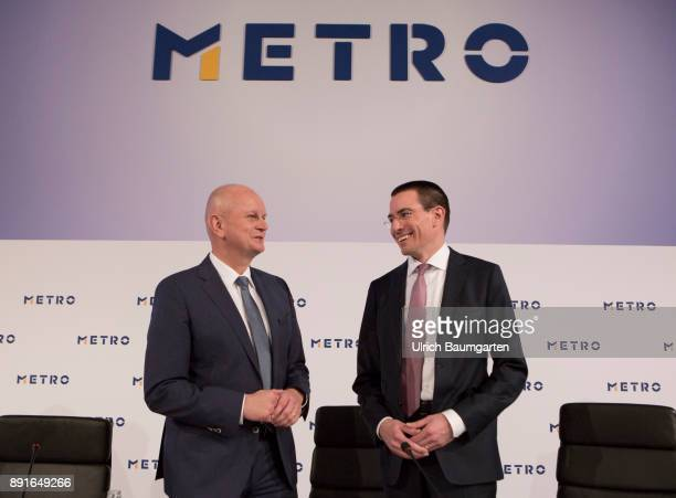 Annual Press Conference of Metro AG Olaf Koch Chairman of the Management Board of Metro AG and Christian Baier CFO of Metro AG during the press...