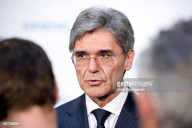 Annual press conference of Siemens AG in Berlin Joe Kaeser Chief Executive Officer of Siemens AG in conversation with journalists