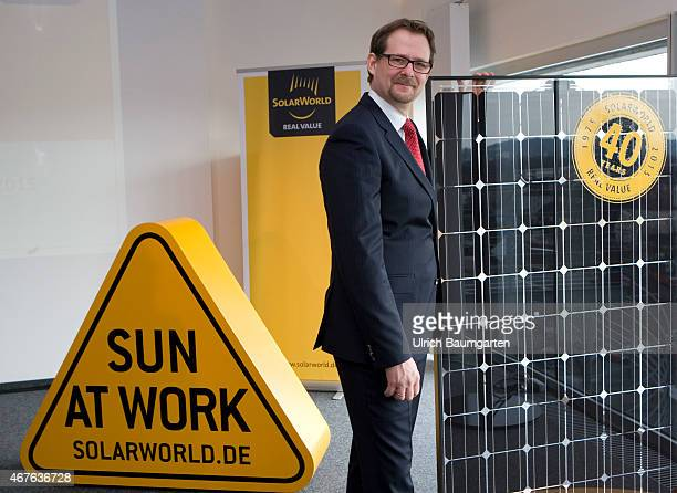 Annual Press Conference SolarWorld AG Philipp Koecke Chief Financel Officer of SolarWorld AG during the press conference