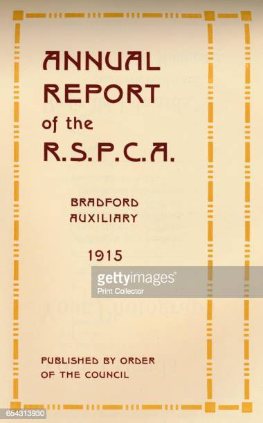 Annual Report of the RSPCA 1916 Image printed with Mander Brothers inks From The British Printer Vol XXIX [Raithby Lawrence Co Ltd London and...