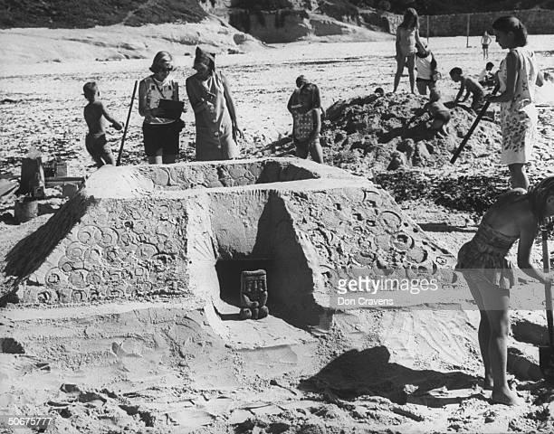 Annual sand sculpture contest on Carmel beach