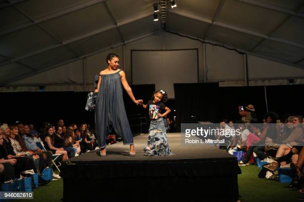 Annual Santee High School Fashion Show at Los Angeles Trade Technical College on April 13 2018 in Los Angeles California