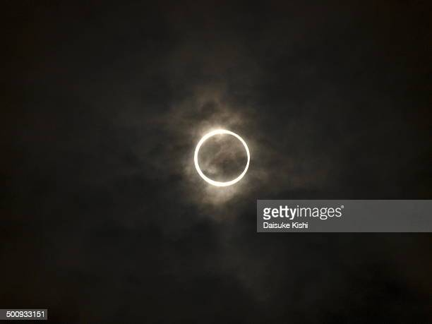 annular eclipse - annular solar eclipse stock pictures, royalty-free photos & images