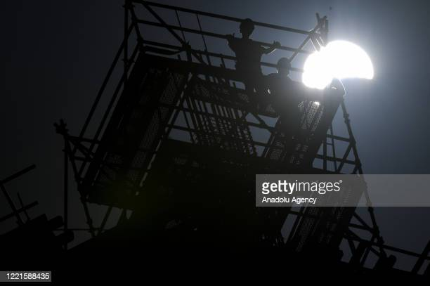 Annular solar eclipse is obserbed in Shıwaikh neighborhood of Kuwait City Kuwait on June 21 2020