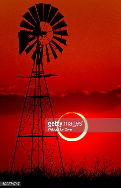 2012 annular solar eclipse - lubbock, texas - lubbock stock pictures, royalty-free photos & images