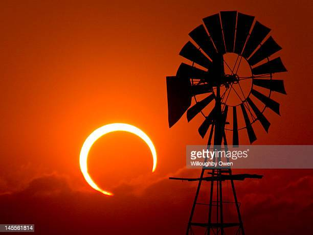 2012 annular solar eclipse - lubbock stock pictures, royalty-free photos & images