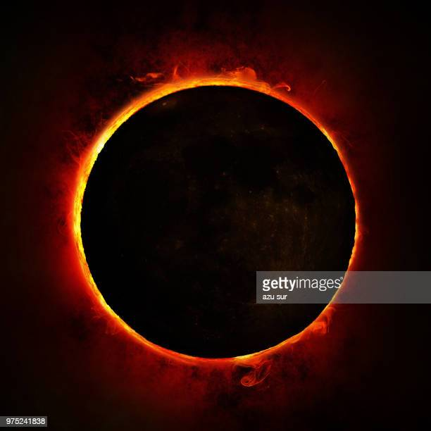 annular solar eclipse - eclipse stock pictures, royalty-free photos & images