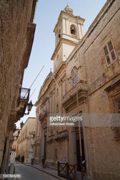 Annunciation Church at Dusk, Baroque style, Mdina, Malta