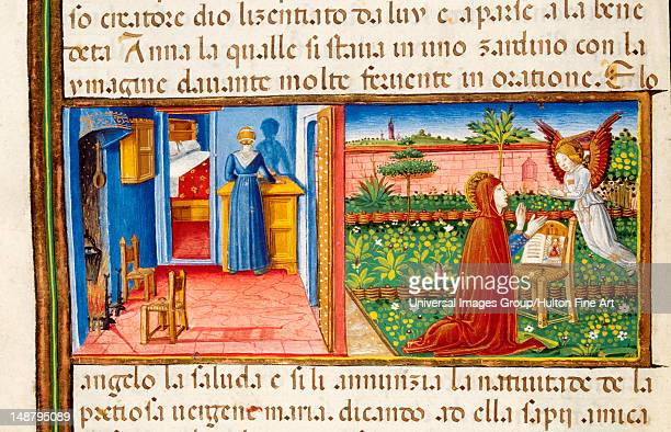 Annunciation to Saint Anne Codex of Predis Royal Library Turin Italy