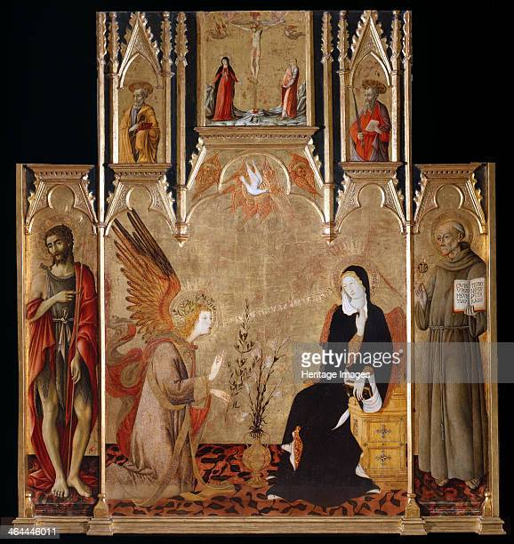 Annunciation with Saints John the Baptist und Bernardino da Siena The Crucifixion Saints Peter and Paul Between 1455 and 1464 Found in the collection...