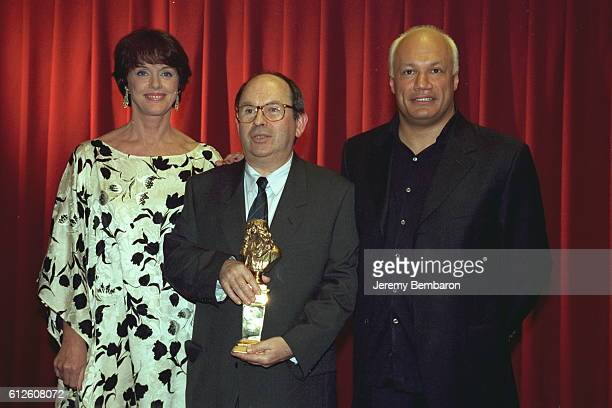 Anny Duperey and playwrights Jean Claude Grumberg and Eric Emmanuel Schmitt.