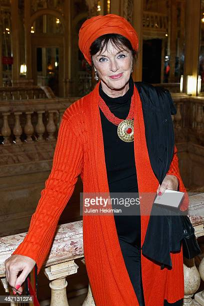 Anny Duperey is pictured before the Stromae and Line Renaud Waxwork Unveiling at Musee Grevin on October 12, 2014 in Paris, France.