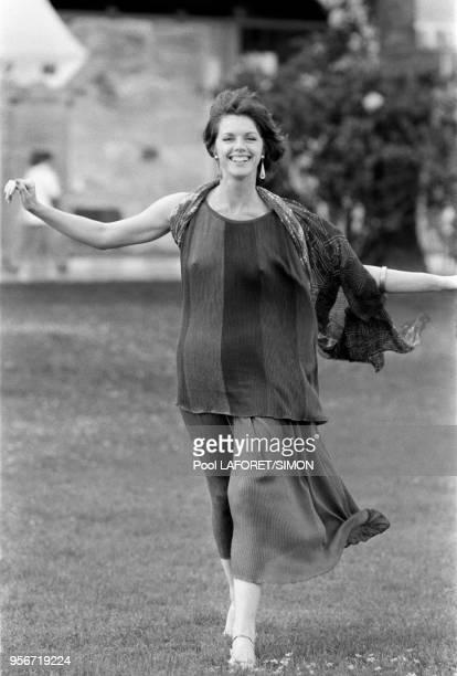 Anny Duperey lors du Festival de Cannes en mai 1981, France.