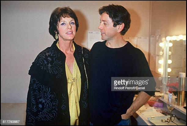 "Anny Duperey with Bernard Giraudeau - Play ""L'Aide Memoire ""."