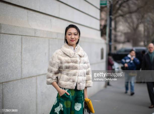 Anny Fan attends Carolina Herrera fall 2019 runway show during New York Fashion Week held at New York Historical Society 170 Central Park West on...