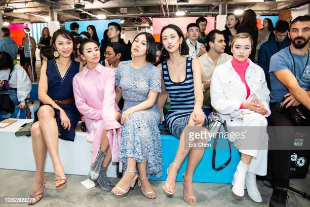 Anny Fan Yuyu Zhangzou Yvonne Ching Natasha Lau and Jiaye Wu attend the MICHAEL KORS COLLECTION Spring 2019 Runway Show Asia Pacific Front Row Faces...