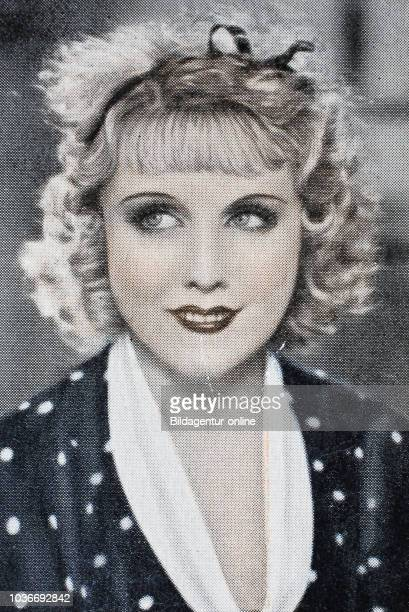 Anny Ondra was a Czech film actress digital improved reproduction of an historical image