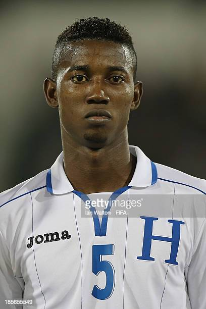 Anoal Hernandez of Honduras during the Group A FIFA U17 World Cup match between Honduras and Brazil at Ras Al Khaimah Stadium on October 23 2013 in...