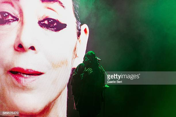 Anohni performs live at Flow Festival on August 14 2016 in Helsinki Finland
