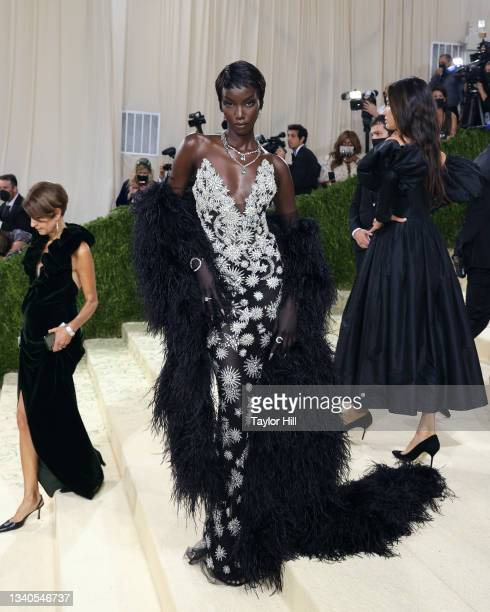 """Anok Yai attends the 2021 Met Gala benefit """"In America: A Lexicon of Fashion"""" at Metropolitan Museum of Art on September 13, 2021 in New York City."""