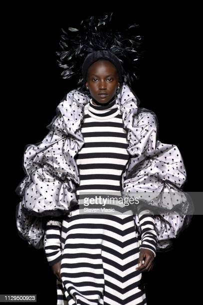 Anok Yai walks the runway for the Marc Jacobs Fall 2019 Show at Park Avenue Armory on February 13 2019 in New York City