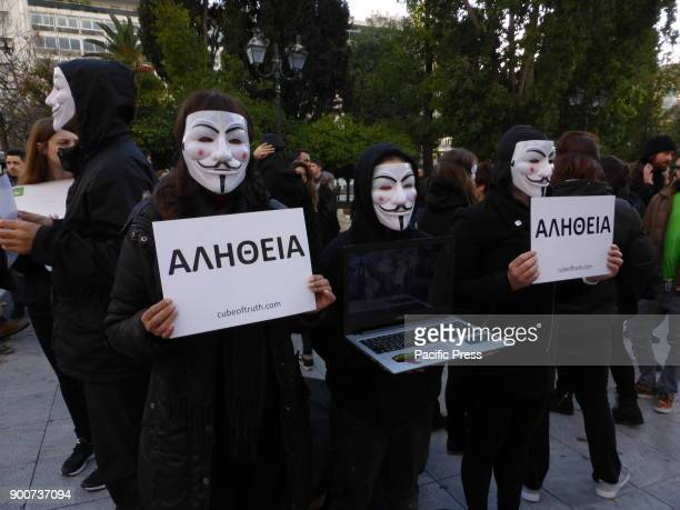 SQUARE ATHENS ATTIKI GREECE Anonymous for the Voiceless is an animal rights organisation that specialists in street activism The organised a protest...
