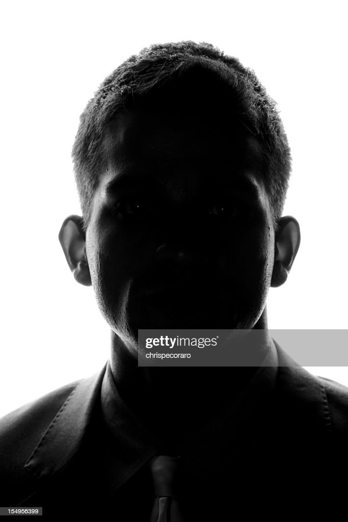 Anonymous - Front Silhouette : Stock Photo