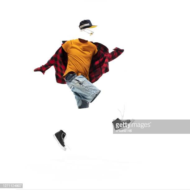 anonymous, invisible man in casual wear isolated on white studio background - male likeness stock pictures, royalty-free photos & images
