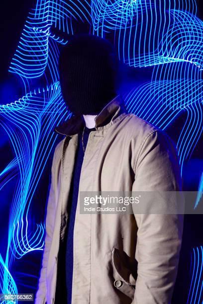 anonymous man with light painting - andrew dieb stock-fotos und bilder