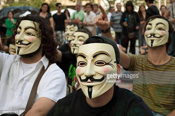anonymous - terrorism stock pictures, royalty-free photos & images