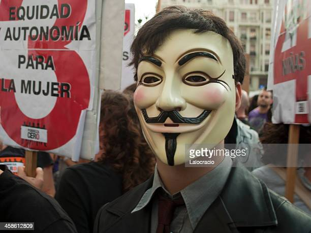 anonymous protester - sopa images stock pictures, royalty-free photos & images