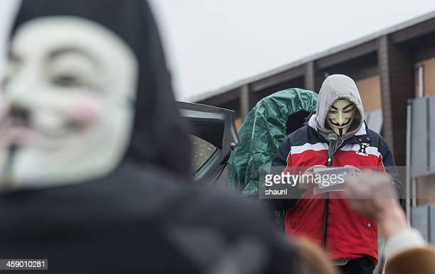 anónimo habla - rehtaeh parsons fotografías e imágenes de stock