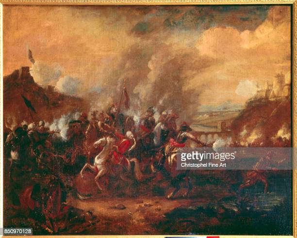 Anonymous The Battle of Vienna Charles of Lorraine and John Sobieski Delivering Vienna from the Ottoman Army 1683 1683 Nancy Musee Historique Lorrain