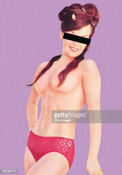 Anonymous topless woman