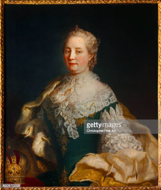 Anonymus 18th Equestrian portrait of Maria Theresa of Austria HabsburgLorraine Queen of Hungary Nancy Musee Historique Lorrain