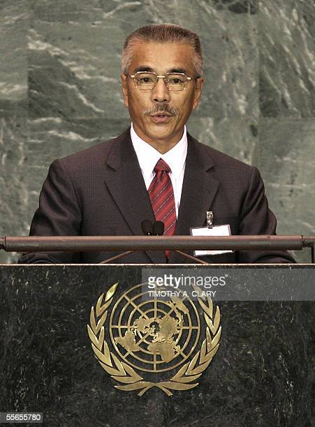 Anote Tong President of Kiribati speaks during the 2005 World Summit 16 September 2005 at the 60th session of the United Nations General Assembly in...