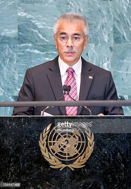Anote Tong president of Kiribati speaks during the 65th annual United Nations General Assembly at the UN in New York US on Saturday Sept 25 2010 The...