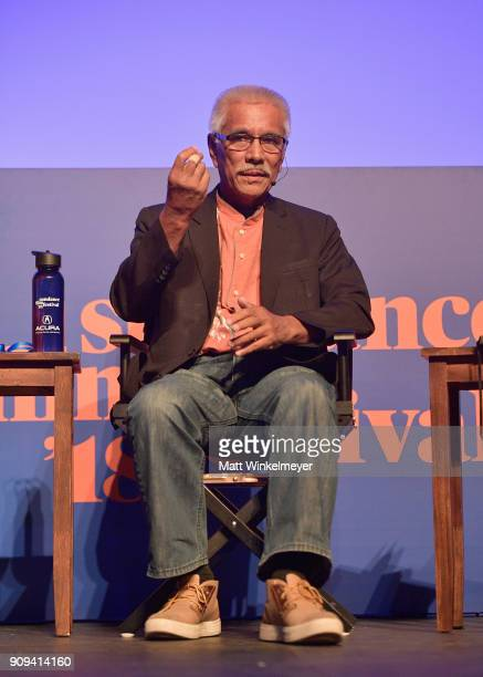 Anote Tong speaks onstage during The New Climate Panel during the 2018 Sundance Film Festival at Egyptian Theatre on January 23 2018 in Park City Utah
