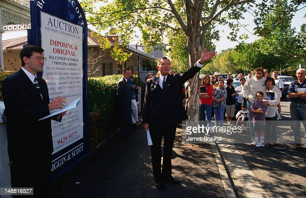 Another auction in a leafy suburb of Melbourne.