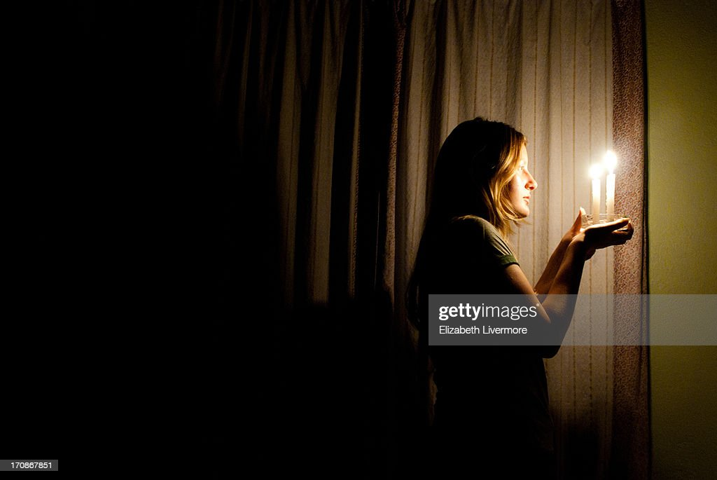 Another candle-lit night. : Stock Photo