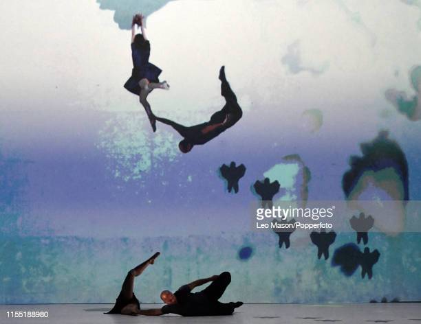 Another Kind of Blue's production FLIRT WITH REALITY where dance meets cutting-edge technology at The Peacock Theatre in London, July 9th 2019. The...