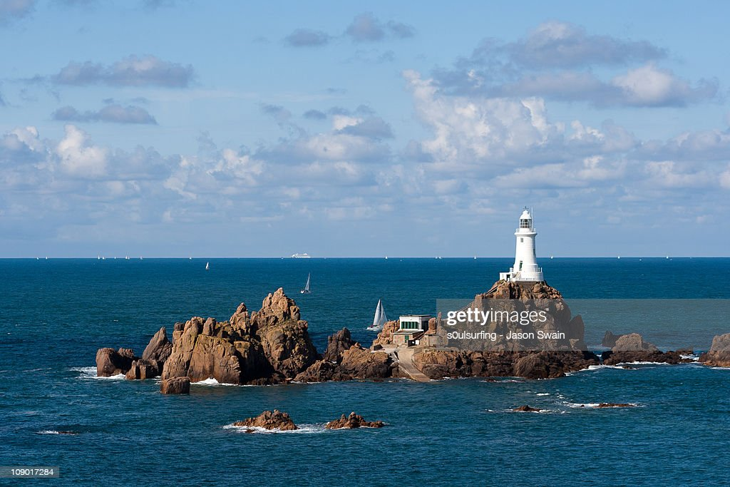 Another lighthouse shot, Corbiere, Jersey : Stock Photo