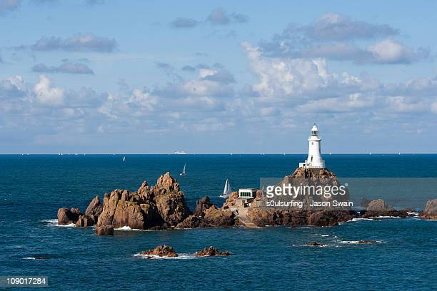 another lighthouse shot, corbiere, jersey - s0ulsurfing stock pictures, royalty-free photos & images