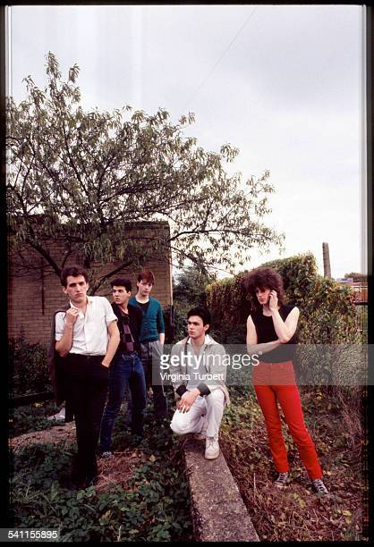 Another Pretty Face group portrait Edinburgh Scotland United Kingdom 23 October 1981 Mike Scott is on far right
